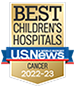 U.S. News and World Report Best Cancer Hospital badge