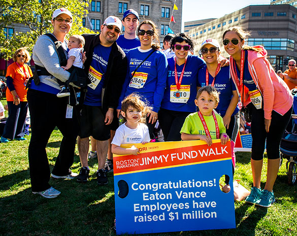 2018 Boston Marathon Jimmy Fund Walk corporate team