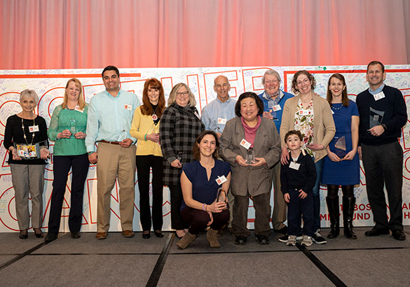 Honorees from the Boston Marathon Jimmy Fund Walk Extra Mile Brunch