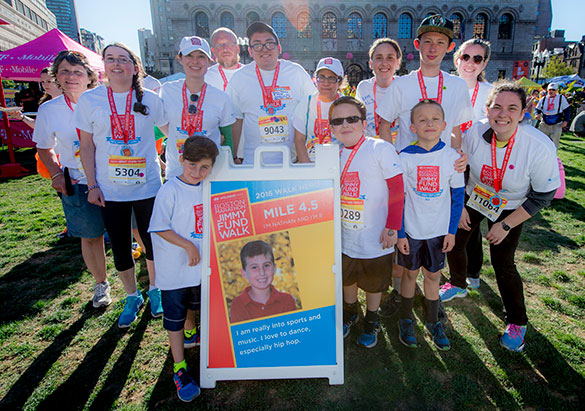 The Heroes of the Patient Partner program at the 2018 Boston Marathon Jimmy Fund Walk