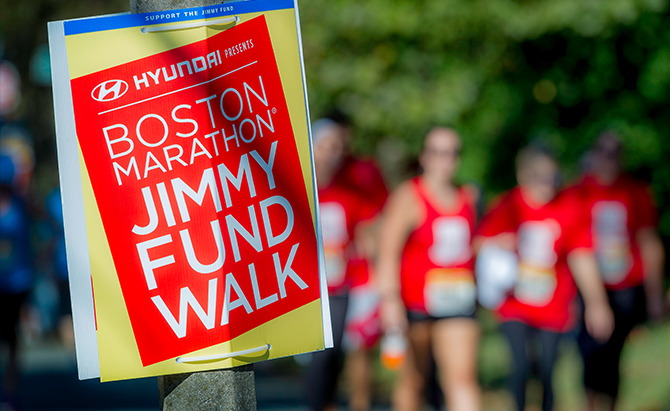Conquer cancer with the Jimmy Fund Walk!]