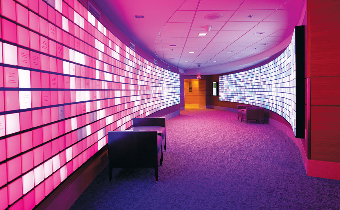 The Gene Display in the Dana-Farber Yawkey Center for Cancer Care