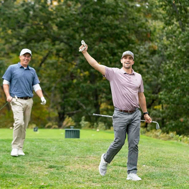 Previous Jimmy Fund Golf participants on the course