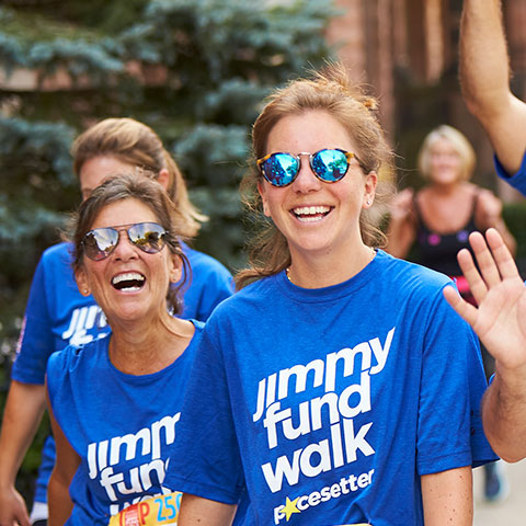 Previous Jimmy Fund Walk participants on the course