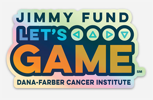 Jimmy Fund Let's Game sticker