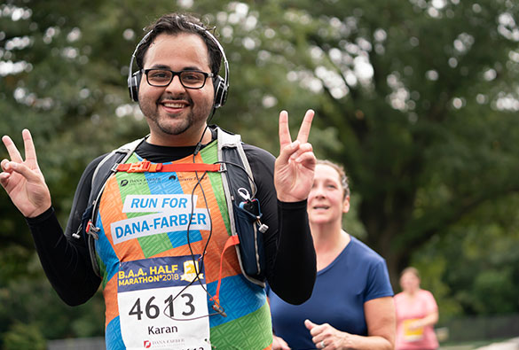B.A.A. 5K® participant on the Dana-Farber team