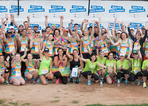 The Dana-Farber team for the B.A.A. Half Marathon®