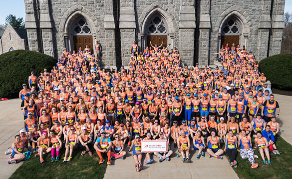 The Dana-Farber Marathon Challenge team for the Boston Marathon