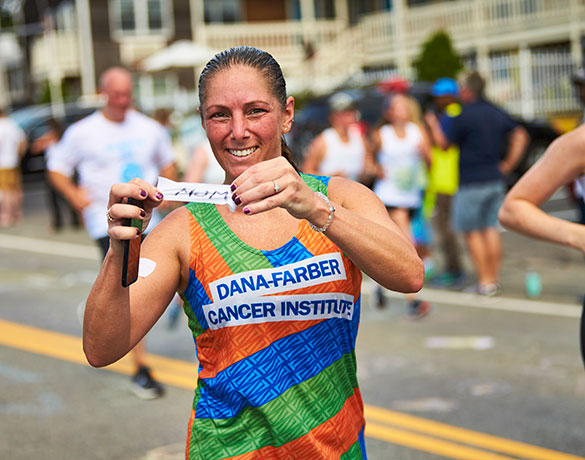 Falmouth Road Race runner on the course