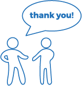 Say thank you to fundraising donors icon