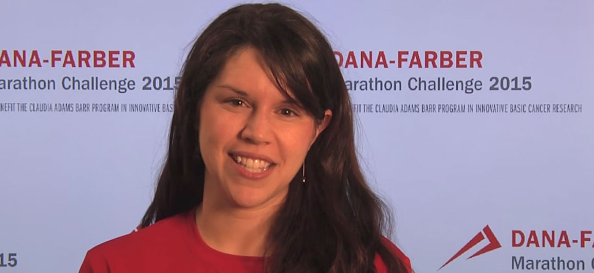 A Dana-Farber Marathon and New Balance Falmouth Road Race participant