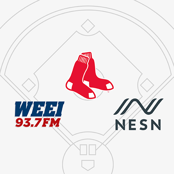 WEEI logo, NESN logo, and the Boston Red Sox logo