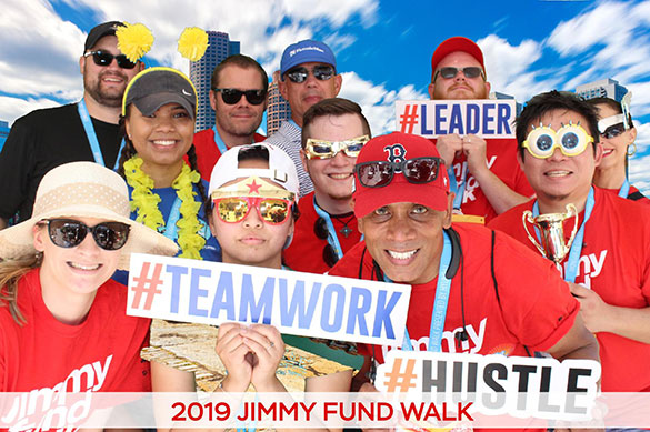 Boston Marathon Jimmy Fund Walk corporate team