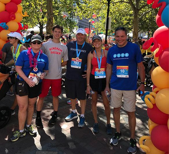 Boston Marathon Jimmy Fund Walk corporate team