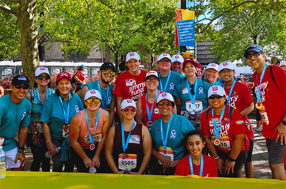 Boston Marathon Jimmy Fund Walk corporate Dana-Farber employee team