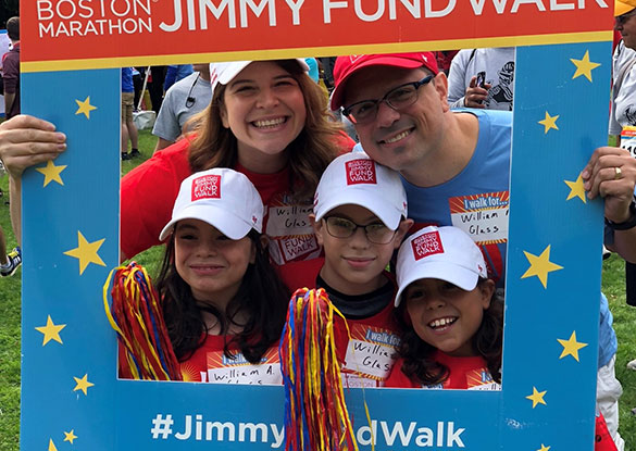 2018 Boston Marathon Jimmy Fund Walk corporate Dana-Farber employee team