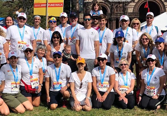 Boston Marathon Jimmy Fund Walk team