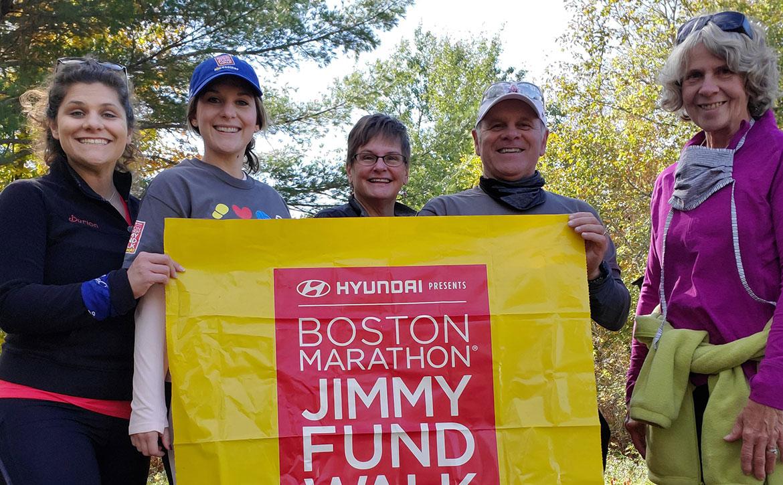 Jimmy Fund Walk team walking their way