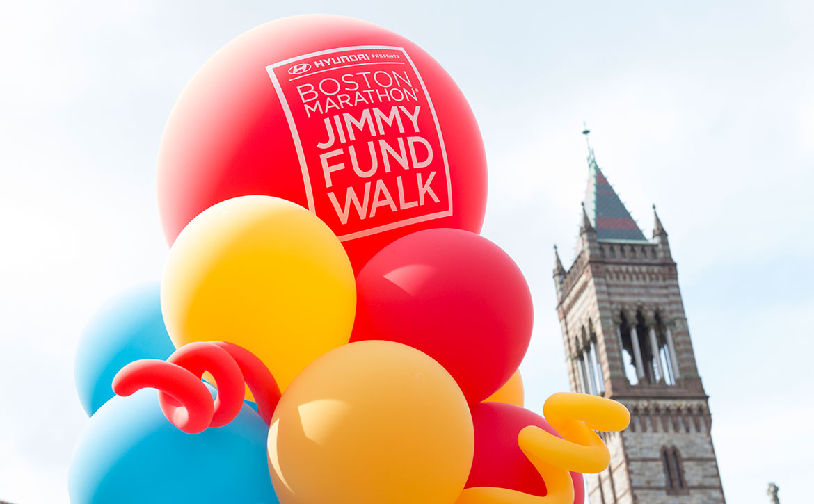 Jimmy Fund Walk balloons