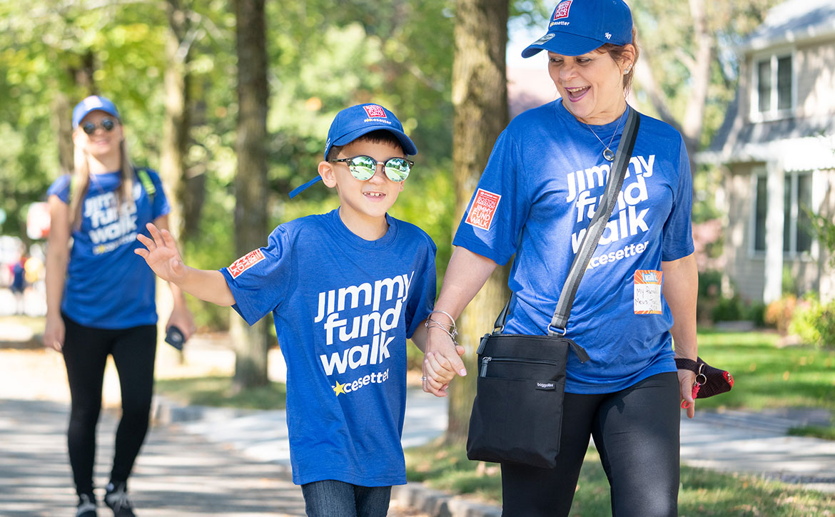 Jimmy Fund Walkers raising money for charity to cure cancer