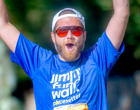 The Jimmy Fund Walk provides Pacesetters with recognition and rewards as they help conquer cancer
