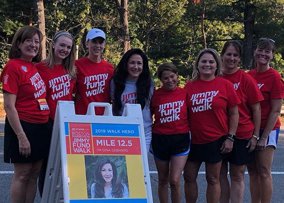 2018 Boston Marathon Jimmy Fund Walk Hero and Patient Partner