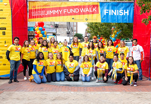 The featured volunteer at the 2018 Boston Marathon Jimmy Fund Walk