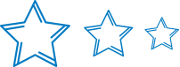 Pacesetter levels star logos