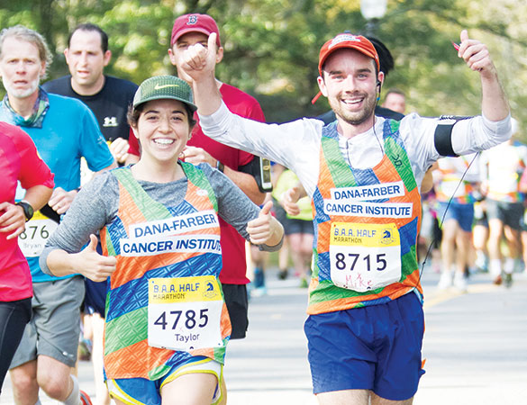 B.A.A. Half Marathon® participants help raise money to cure cancer