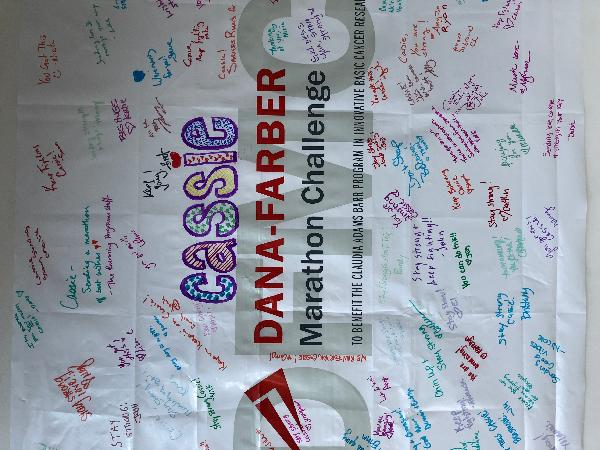 the DFMC team sent this to cheer me on during treatment ... now it's our turn to do the marathon course!