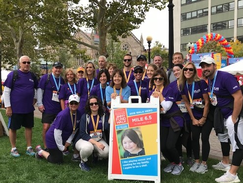 Team Atlas Travel Flyers walking to conquer cancer!