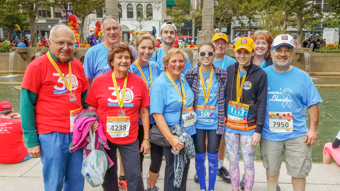Our team at the 2018 Jimmy Fund Walk