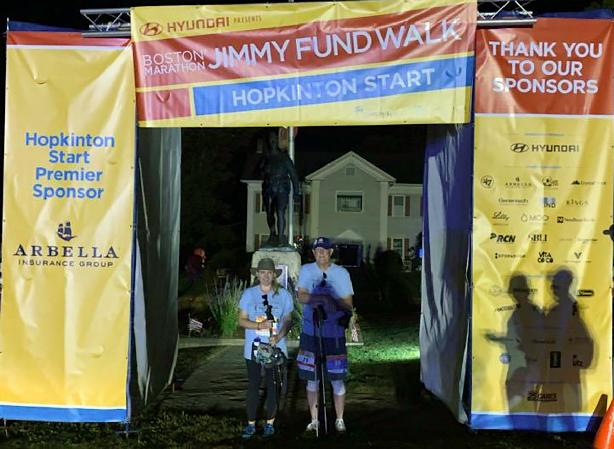 Our team starts at virtually every distance on the course. Morgan and Harry started at 5:30 a.m. in Hopkinton last year. Two others started from there a bit later. Other team members started at Wellesley and Newton. The heat was difficult, but nothing compared to what NET cancer patients face. We walk until there is a cure.